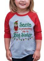 7 ate 9 Apparel Youth Big Sister Christmas Raglan Shirt Red
