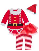 Paddy Field Baby Girls Newborn 1st Christmas Costume Tutu Dress Elf Outfit Set