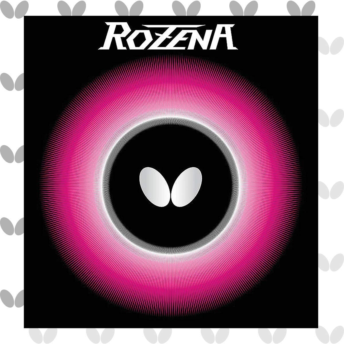 Butterfly Rozena Table Tennis Rubber - 1.7 mm , 1.9 mm, or 2.1 mm - Red or Black - 1 Inverted Table Tennis Rubber Sheet - Professional Table Tennis Rubber - Butterfly Table Tennis Rubber