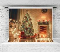 Kate 7x5ft Merry Christmas Backdrop Light Candle Christmas Photo Background Xmas Tree Photo Backdrop Party Decoration