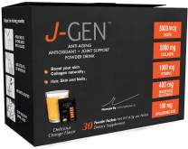 J-GEN Collagen Powder Drink Mix - Ultimate Anti aging with Hyaluronic Acid, Biotin & Vitamin C 1000mg - Antioxidant that supports Hair, Skin, Nails and Joints - 30 Sachets