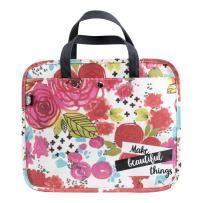 DaySpring Bible Journaling Illustrated Faith - Organizational Bag - Make Beautiful Things Floral (70161)