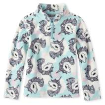 The Children's Place Girls' Big Microfleece Pull Over Tops