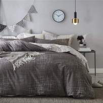 VM VOUGEMARKET Abstract Duvet Cover King,Reversible Fantasy Art Design Duvet Cover Set,100% Cotton-Hotel Quality Stylish Modern Bedding Set-King,Artwork