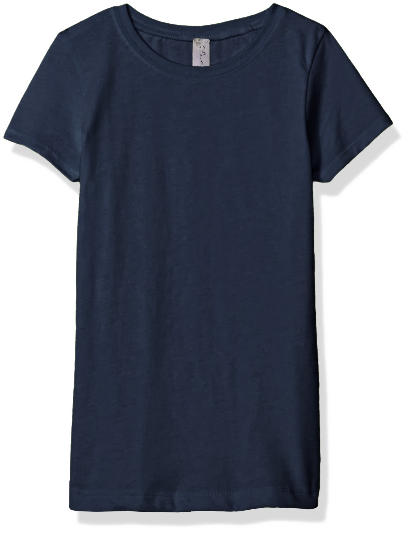 Clementine Girls' T Crew Neck 100% Soft Cotton Short Shirts Tees Assorted Colors