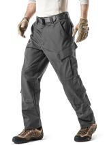 CQR Men's Tactical Pants, Military Combat BDU/ACU Cargo Pants, Water Repellent Ripstop Work Pants, Hiking Outdoor Apparel