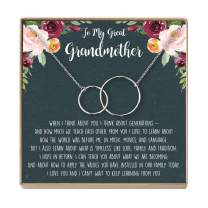 Grandmother Necklace - Heartfelt Card & Jewelry Gift for Birthdays, Holiday, etc