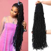32Inch 1Pack Extended New Faux Locs for Soft Locs Crochet Hair Natural Locs Crochet Braids Pre Looped Synthetic Hair (32Inch, 1Pack, #1B)