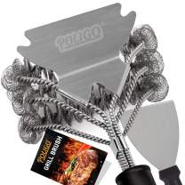 """POLIGO Grill Brush and Scraper Bristle Free - 18"""" Stainless Steel BBQ Grill Brush for Gas Infrared Charcoal Porcelain Grills - Best Gift BBQ Cleaning Brush for Grill Wizard Grate Cleaner"""