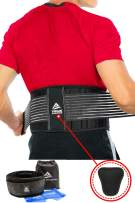 Back Brace - Lower Back Support Belt for Back Pain Relief, Herniated Disc, Sciatica, Scoliosis, Men & Women, Breathable Design Lumbar Pad & Adjustable Straps   Bonus Resistance Band & Carry Bag (L/XL)