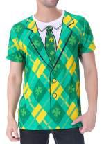 Funny World St. Patrick's Day Men's Leprechaun Costume Green T-Shirts
