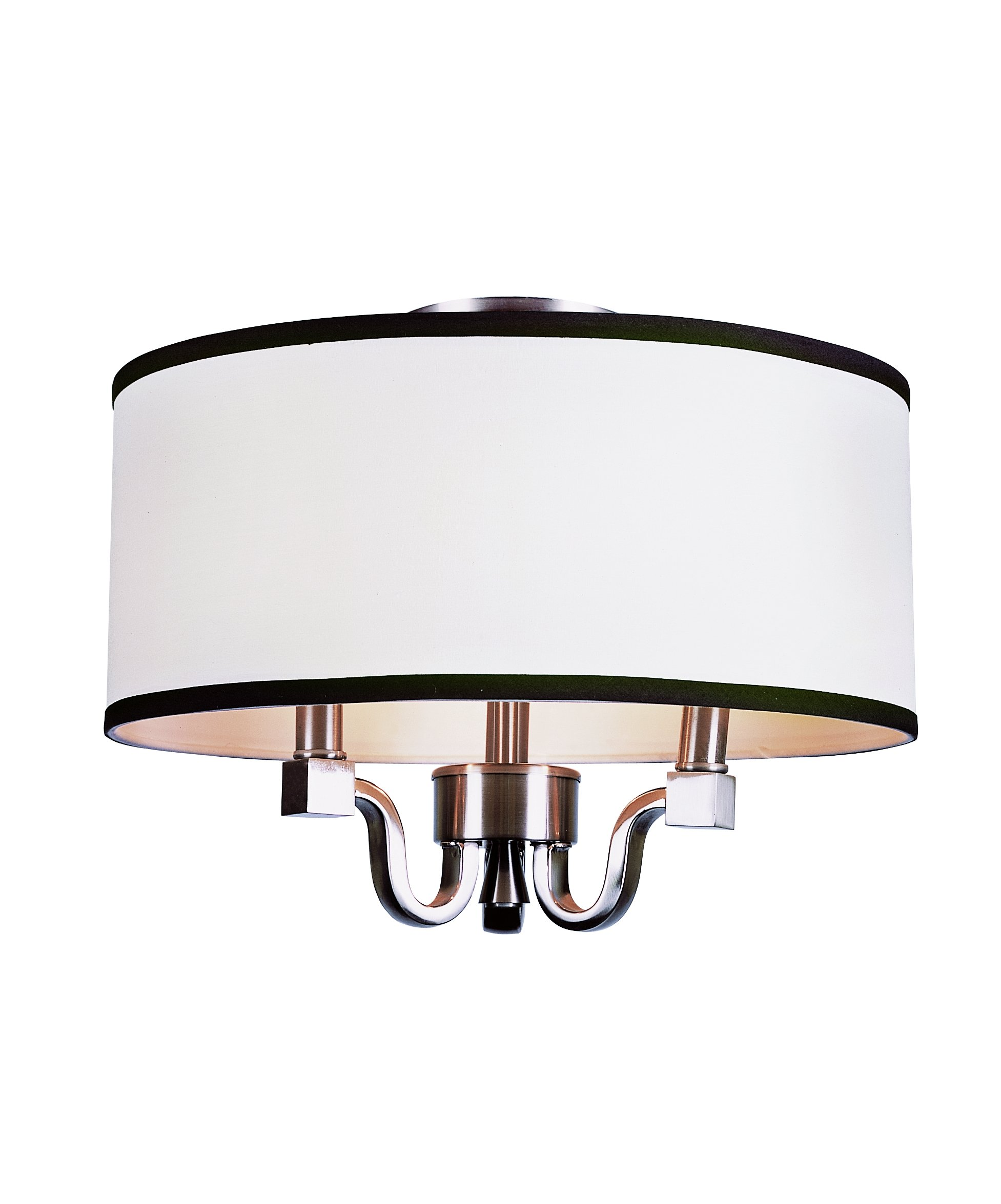 Bel Air Lighting Trans Globe Imports 7970 BN Transitional Three Light Semi Flush Mount from Montclair Collection in Pwt, Nckl, B/S, Slvr. Finish, 15.00 inches, Brushed Nickel