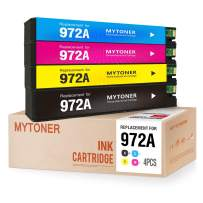 MYTONER Remanufactured Ink Cartridge Replacement for HP 972A 972 A Ink for PageWide Pro MFP 577dw 477dw 577z 477dn 452dw 452dn Printer (Black Cyan Magenta Yellow, 4-Pack)
