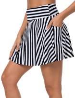 ChinFun Women's Swim Skirts Bikini Tankini Bottom Swimsuit Swimdress Skort Side Pocket with Built-in Briefs