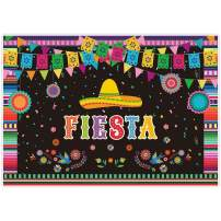 Allenjoy 7x5ft Mexican Fiesta Theme Backdrop for Photography Festival Birthday Party Decor Cinco De Mayo Carnival Colorful Flags Floral Banner Table Decor Background Photo Studio Booth Props Supplies