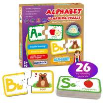 Matching Game for Toddlers 2-4 Years – 26 Sets Self-Correcting Alphabet Puzzles for Toddlers, Perfect Matching Puzzles for Kids Ages 3-5