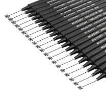 MyLifeUNIT Fineliner Pen Set, 0.4mm Black Fine Liner Sketch Drawing Pen, Pack of 20 (Black-20)