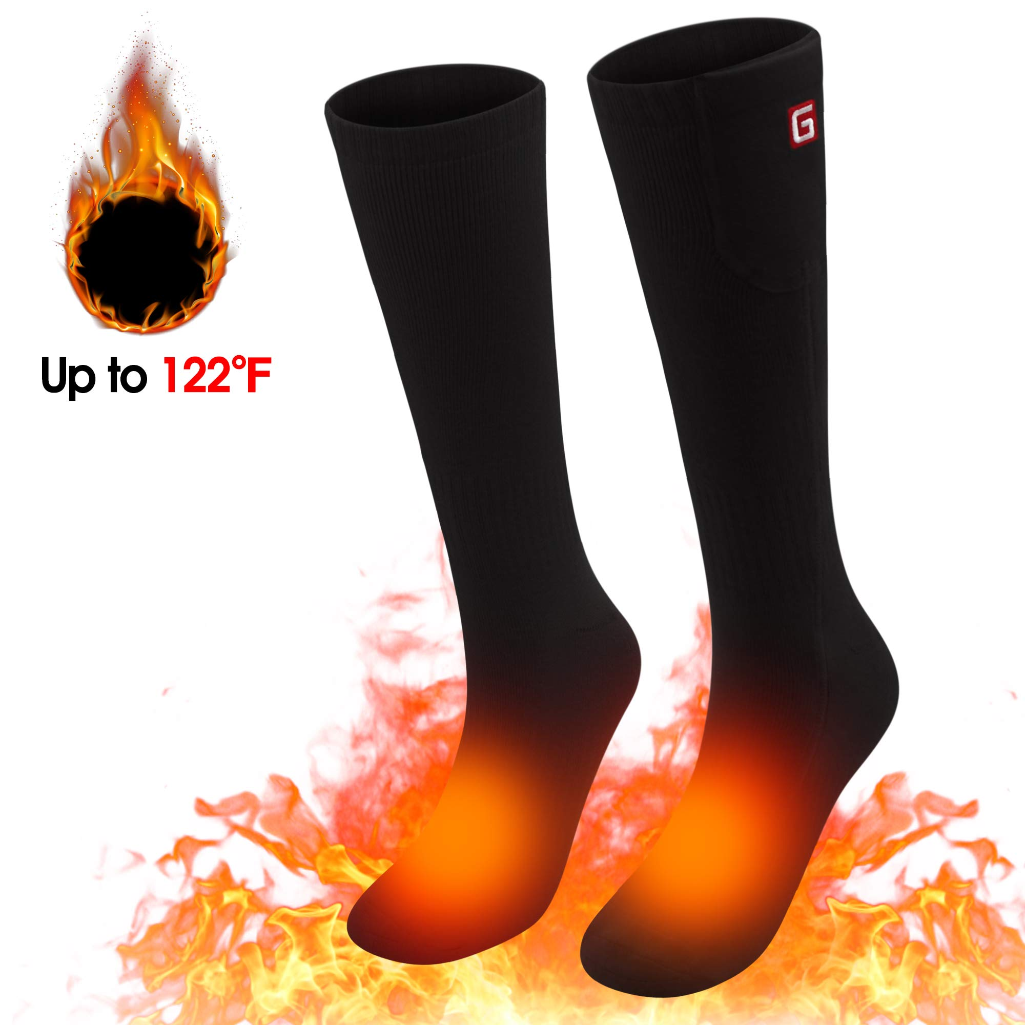 Spring Electric Rechargeable Battery Heating Socks for Men Women,Winter Ski Hunting Camping Hiking Climbing Riding Motorcycle Warm Feet Warmers Socks