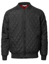 Youstar Men's Casual Basic Quilted Bomber Jacket