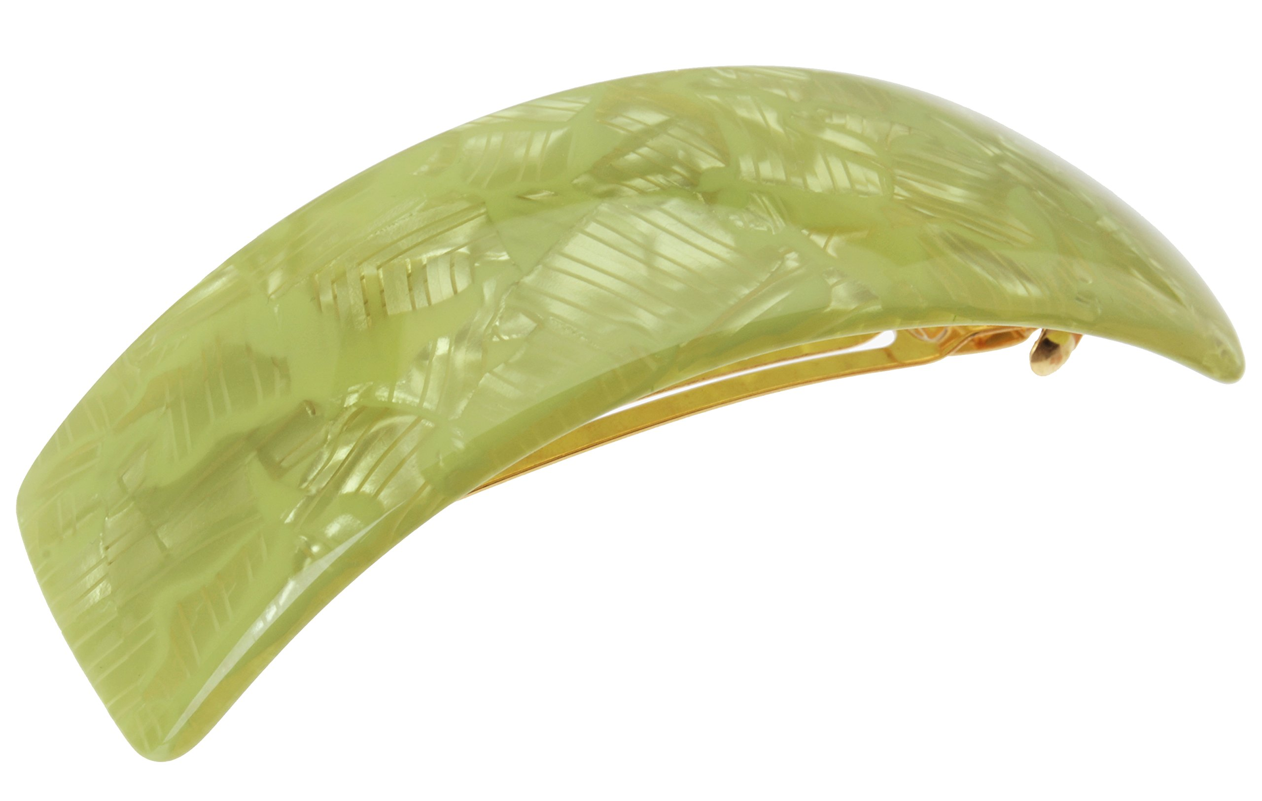 France Luxe Rectangle Volume Barrette - Flake Lime