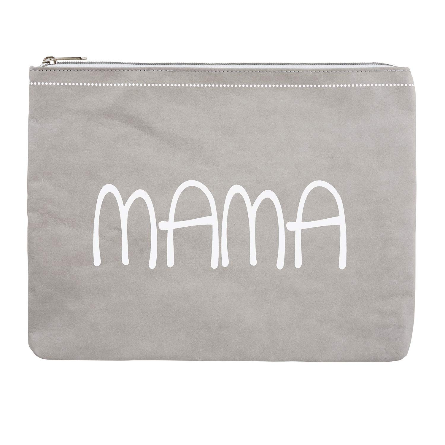 Stephan Baby Washable Paper Large Zippered Pouch, Mama