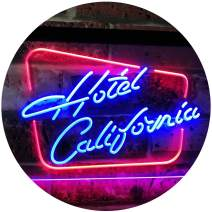 """ADVPRO Hotel California Bar Club Room Beer Dual Color LED Neon Sign Red & Blue 16"""" x 12"""" st6s43-i3092-rb"""