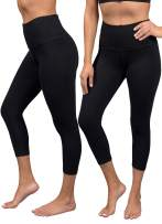 90 Degree By Reflex 2 Pack Womens Power Flex Capri Workout Leggings