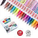 ZEYAR Paint Markers, AP Certified, Extra Fine Point, 18 colors, Permanent & Waterproof ink, Works on Rock, Wood, Glass, Metal and Ceramic and Almost All Surfaces