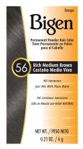 #56 Rich Medium Brown Bigen Permanent Powder - 6 Pack