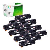 TCT Premium Compatible Toner Cartridge Replacement for HP 78A CE278A Black Works with HP Laserjet M1536 MFP M1536DNF, P1560 P1566 P1606 P1606DN Printers (2,100 Pages) - 12 Pack