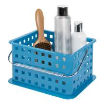 iDesign Storage Organizer Basket, for Bathroom, Health and Beauty Products - Small, Blue
