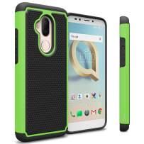 CoverON Heavy Duty Hybrid HexaGuard Series for Alcatel 7 / T-Mobile REVVL 2 Plus Case, Green on Black
