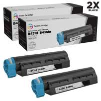 LD Compatible Toner Cartridge Replacement for Okidata 44574901 High Yield (Black, 2-Pack)