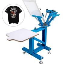 VEVOR Screen Printing Press 4 Color 1 Station Screen Printing Machine Removable Pallet T-Shirt Printing Machine All in One Silk Screen Printing Machine for DIY T-Shirt Printer