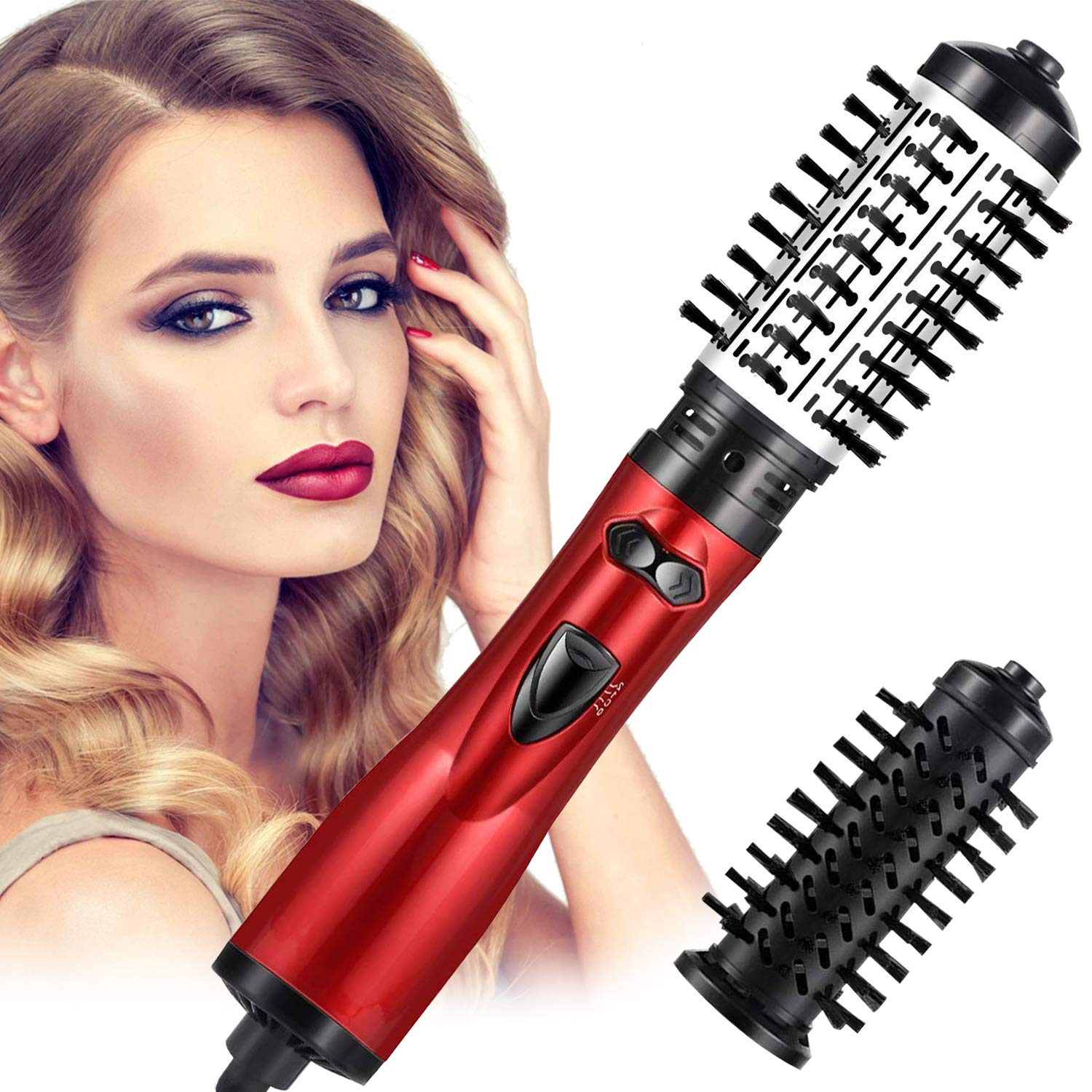 Hot Air Brush One-Step Hair Dryer Brush & Volumizer,Dry & Straighten & Curl & Comb 4 In 1 Salon Negative Ionic Hair Reduce Frizz And Static,Hair Styling Tools For Women And Girl All Types Hair