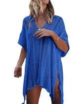 YOGINGO Women Swimsuit Cover Up Bodysuit Bikini Beach Swimwear Coverups Knitted Tassel Bathing