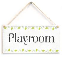 """Meijiafei Playroom - Beautiful Home Accessory Novelty Gift Sign Kids Play Room Plaque 10""""x5"""""""