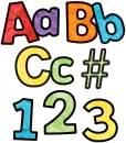 Carson Dellosa Celebrate Learning Watercolor Combo Pack EZ Letters (130085)