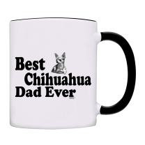 Mug Best Chihuahua Dad Ever Gift Coffee Mug-0095-Black