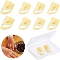 8 Pieces Alaska Guitar Picks Adjustable Finger Picks Small Medium and Large Alaska Picks Plectrums Stringed Instrument Accessories with Storage Box for Guitar Bass Banjo Ukulele (Children Size)