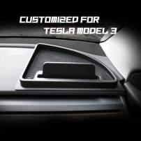 LFOTPP 2018+ Tesla Model 3 2020 Tesla Model Y Car Instrument Board Storage Box Organizer Phone Holder Central Console Organizer Black for Cell Phone, Key Chains, Sunglasses (1PCS for Right)