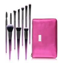 10 pcs Makeup Brushes Set - HEDILINA Professional Makeup Brush Kit, Eyebrow Eyeshadow Eyelash Lip Foundation Blush Powder Blending Concealer Brushes (Rose Red)