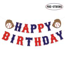 Baseball Happy Birthday Banner Sports Theme Birthday Party Decorations MLB Party Supplies