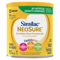 Similac NeoSure Infant Formula with Iron, For Babies Born Prematurely, Powder, 13.1 ounces (Pack of 6), Powder(White)