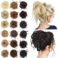 AISI BEAUTY Tousled updo hair pieces messy bun hair scrunchies extensions hair pieces and ponytails hair extensions for women (86/10#(Light Blonde & Light Ash Brown))