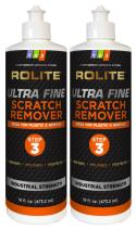 Rolite Ultra Fine Scratch Remover (16 fl. oz.) for Plastic & Acrylic Surfaces Including Marine Strataglass & Eisenglass, Headlights, Aquariums 2 Pack