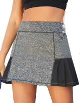 JACK SMITH Women's Athletic Skort Back Pleated Waist Stretchy Sports A-Line Skirts with Pockets