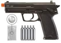 Wearable4U Elite Force HK Heckler & Koch USP C02 Blowback (KWC) Airsoft Pistol BB Air Soft Gun (Black) Bundle (CO2 Tanks, Pack of 1000 BBS or Spare Mag)
