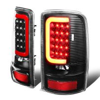 Replacement for Yukon Denali/Suburban/Tahoe GMT800 Pair of 3D LED Tail Brake Lights (Black Housing Clear Lens)