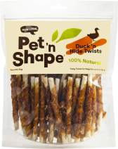 Pet 'n Shape Duck Hide Twists Dog Treats, 16 Ounces, 6 Pack